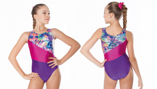 INTERMEZZO Dance Acro Gymnastics Leotard and Scrunchie Multi Colour Girls Adults